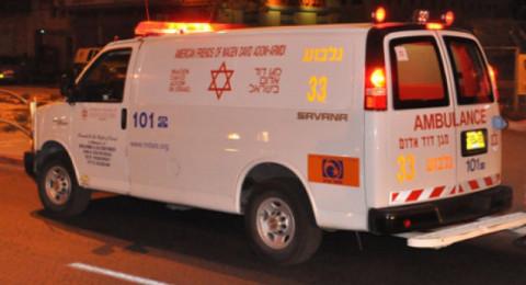 الناصرة: حادث طرق واندلاع النيران بمركبة