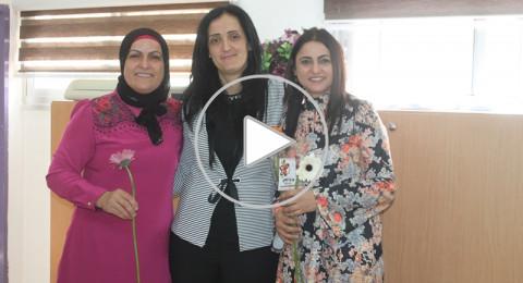 سخنين: مدرسة الحلان تستقبل المعلمات بالورود، ومحاضرات قيّمة بيوم المراة