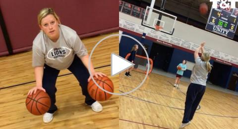 تستعرض مهاراتها بكرة السلة قبل ساعات من إنجاب طفلها