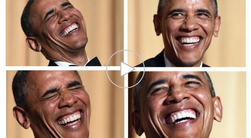أوباما يسخر من نفسه ومن _صدر بوتين العاري_