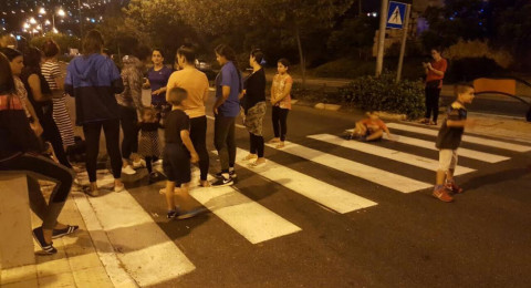 احتجاجات سكان حيفا الشرقية في