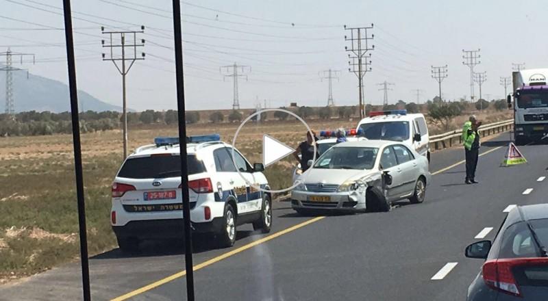 حادث طرق بالغ على شارع رقم 73 المؤدي بين العفولة وحيفا