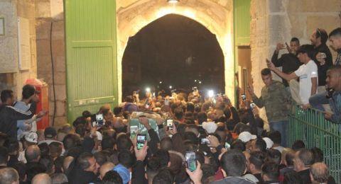 مئات المقدسيين يشيعون جثامين ضحايا حادث السير المروع في الغور
