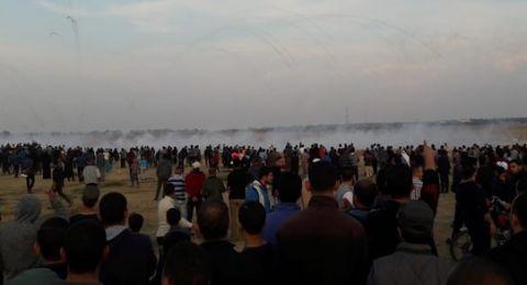 حصيلة مواجهات غزة: شهيد ونحو 40 مصابًا