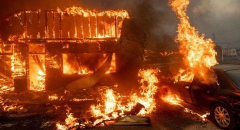 كاليفورنيا: حريق غابات يأتي على بلدة بالكامل ويهجر عشرات الآلاف