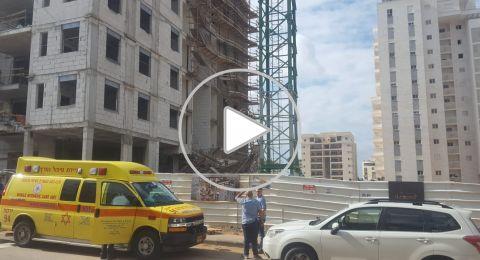 بيتح تكفا: انهيار سقالة في ورشة بناء والبحث عن عامل مفقود