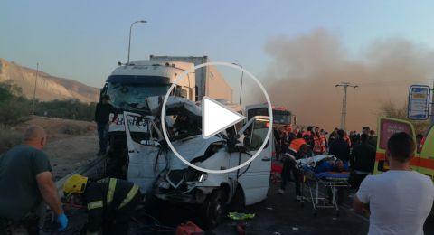 توثيق مؤلم للحادث فجر اليوم على شارع 90 .. مصرع 6 عمال من القدس!
