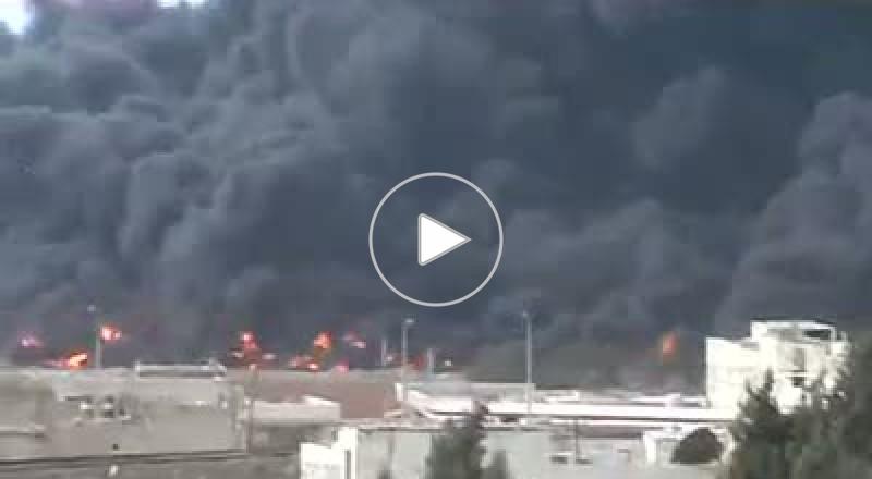 إنفجار أنبوب نفط بسوريا