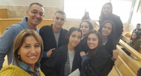 زيارة ناجحة لطلاب مدرسة أورط على اسم حلمي الشافعي عكا لمحكمة الصلح بالناصرة