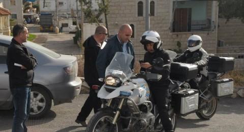 شرطة السير تقوم بحملة تثقيف مروري في طرعان