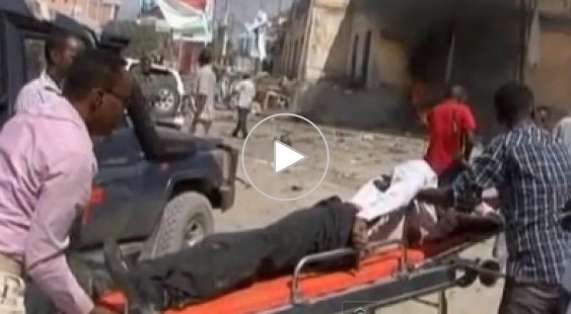 حادث تفجير بمقديشو يتعرض له وفد قطري