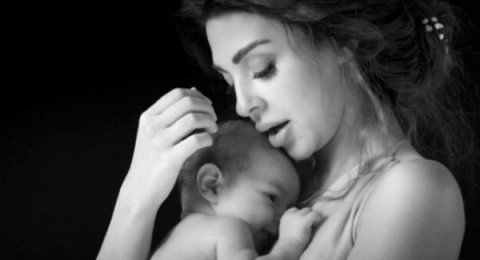 مشهد يكشف شبه ميريام فارس بمولودها الأول