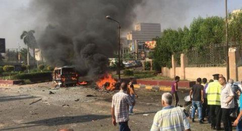 انفجار سيارة وسط القاهرة