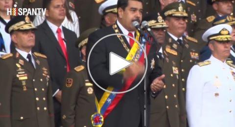 فيديو جديد لمحاولة اغتيال الرئيس الفنزويلي