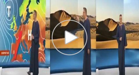 مذيع ألماني يرتدي الجلباب الصعيدي بسبب الحر