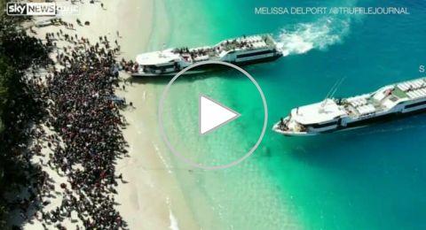 هكذا تم إخلاء السائحين من شواطئ لومبوك رعباً من تسونامي