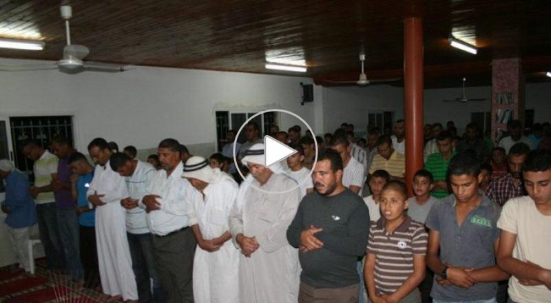 صلاة التراويح الاخيرة من شهر رمضان في مسجد الهدى في عرعرة النقب