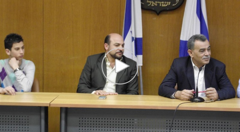 النائبان غنايم وزحالقة يستقبلان طلاب ثانوية هشام أبو رومي طمرة