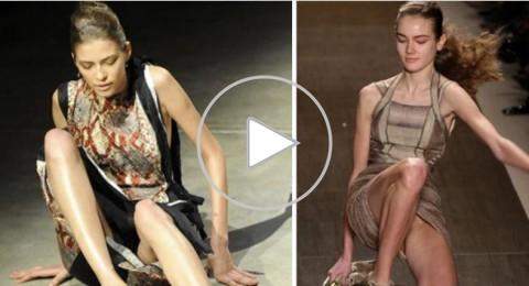 أبرز 7 لقطات مضحكة لسقوط عارضات الأزياء!