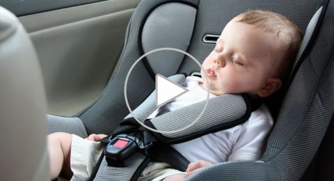 اترك حقيبتك بجانب طفلك كي لا تنساه داخل السيارة