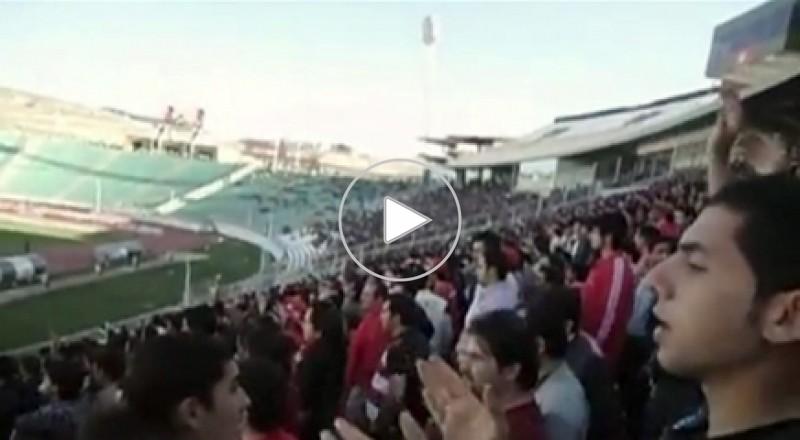جماهير إيرانية تهتف للخليج العربي في مباراة رياضية