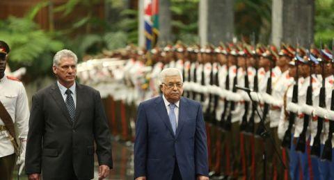 كوبا تؤكد لعباس تأييدها إقامة دولة فلسطينية ورفضها قرار ترامب