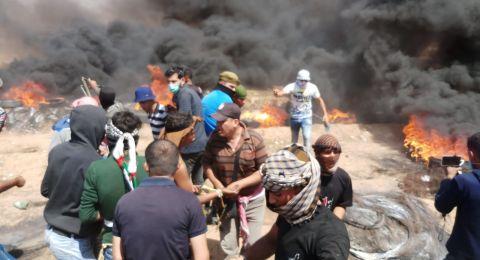 استشهاد شاب وإصابة 167 بينهم 7 في حالة الخطر بقطاع غزة