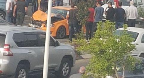 3 إصابات جراء اصطدام سيارتين في سخنين