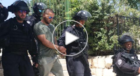 اعتقال اربعة مقدسيين خلال تفريق اعتصام في مقبرة باب الرحمة