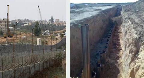 اسرائيل تبني جدارًا عميقًا على حدود غزة