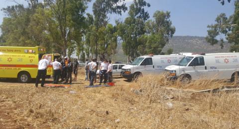حادث مروّع قرب دبورية يسفر عن إصابة شخصين بجراح بالغة!