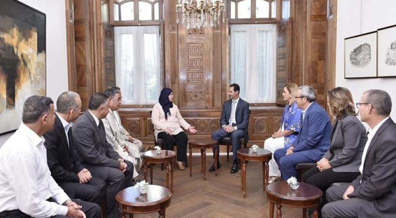الأسد لوفد تونسي: نقاط الضعف العربية متشابهة وجميعنا مستهدفون