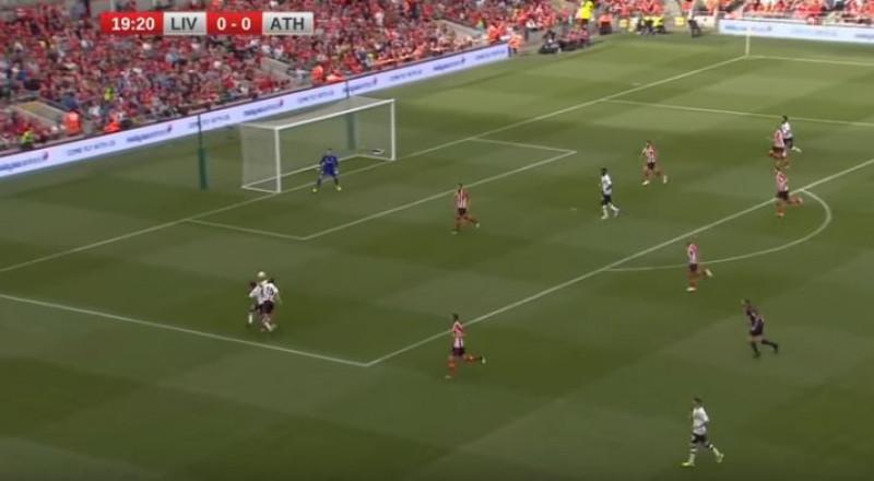 شاهدوا أهداف مباراة ليفربول وأتلتيك بيلباو