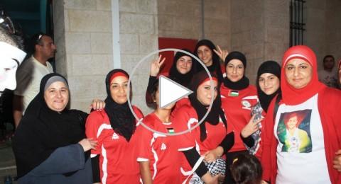 اهالي الطيبة يشاركون ابنهم عبدالله الجابر في العرس الكروي