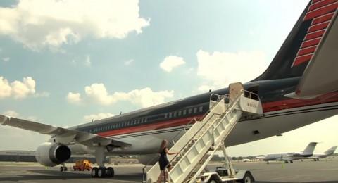 تعرّفوا على طائرة ترامب المطلية بالذهب