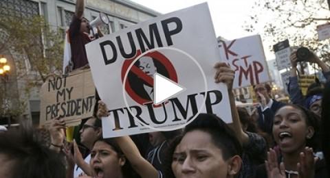 الشارع الأمريكي يعج بالمظاهرات المناهضة لترامب وكاليفورنيا تطلب الانفصال