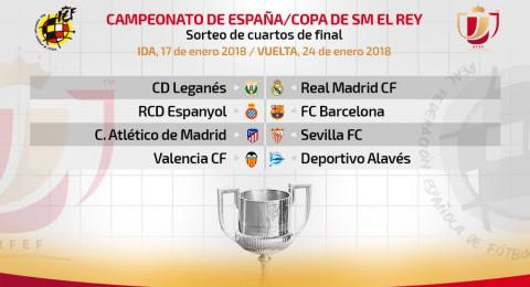 قرعة كأس إسبانيا تسفر عن مواجهات مثيرة
