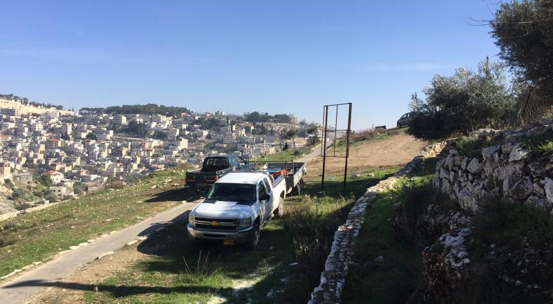 القدس:حفريات إسرائيلية في وادي الربابة لإقامة