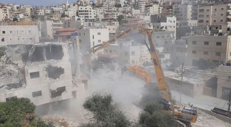 اسرائيل هدمت 132 منشأة ومنزلا في القدس العام الماضي