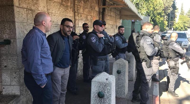 السلطات الاسرائيلية تمنع عقد مؤتمر صحفي حول الاوضاع في القدس