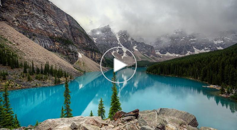 روعة وجمال بحيرة الركام فى كندا
