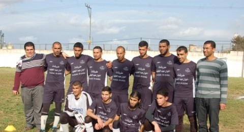 منتخب الدوري الإسلامي يخوض مباراة ودية مع النادي الاجتماعي في مخيم جنين