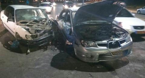 اصابات متفاوتة في حادث طرق في النقب