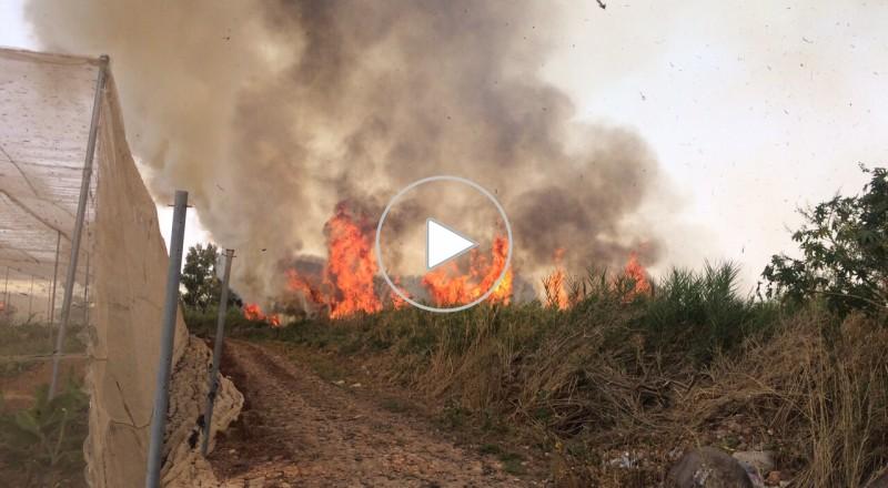 طبريا: حريق هائل في حينوسار