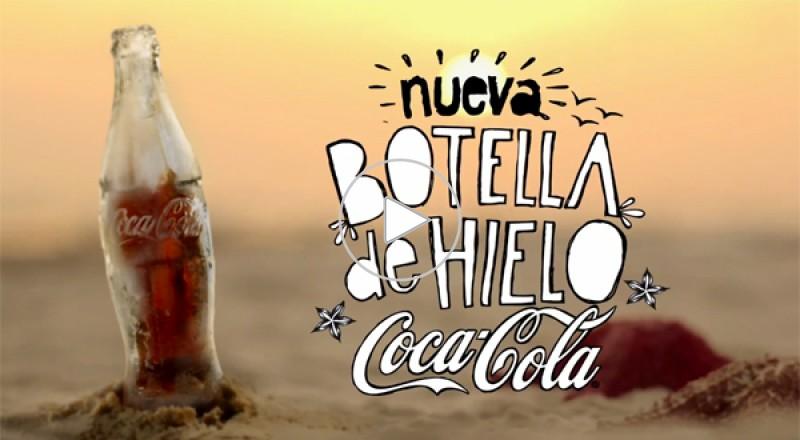 ابتكار زجاجة كوكا كولا مصنوعة من الثلج فقط