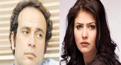 """""""عمرو حمزاوي"""" و """"بسمة"""" يتعرضان للسرقة تحت تهديد السلاح"""