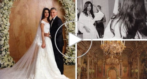 صور لم ترونها من زفاف جورج كلوني وأمل علم الدين