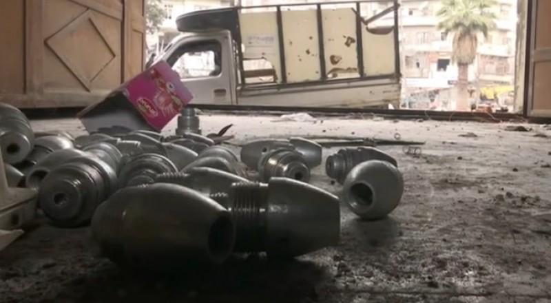 حلب: العثور على مخزن قذائف يكفي لإبادة حي بأكمله