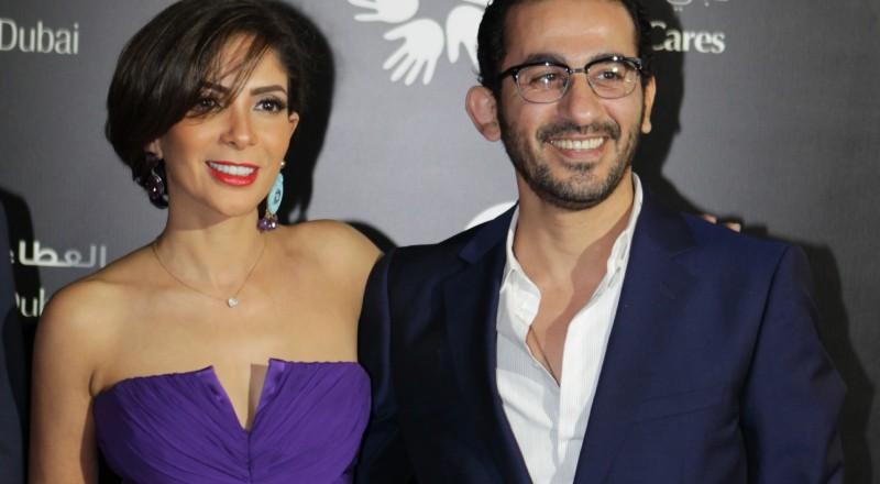 كيف احتفل أحمد حلمي ومنى زكي بسبوع مولودهما الثالث؟