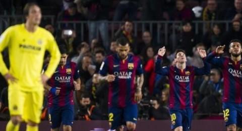 برشلونة يحسم جولة الذهاب لصالحه بثلاثية في شباك الغواصات